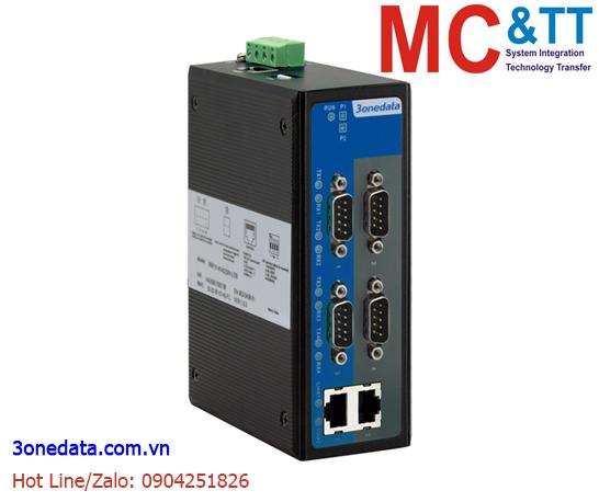 Bộ chuyển đổi 4 cổng RS-232/485/422 sang 2 cổng Ethernet 3Onedata INP314T-4DI(3IN1)